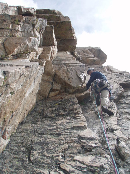 Rock Climbing Photo: Doug leading on Symmetry Spire.