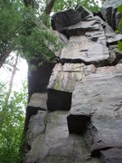 """Rock Climbing Photo: """"Can't Can't"""" starts on the south corner..."""
