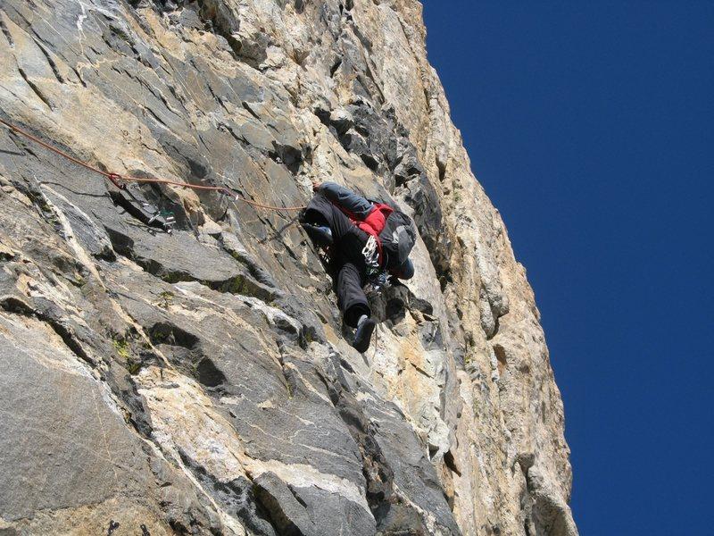 Rock Climbing Photo: Jonny on the Black Face. Photo by Brett Barrett.
