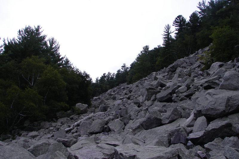 The Slant boulder field from below.