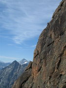 Rock Climbing Photo: Ryan on Pitch 4 - pic taken from another party on ...