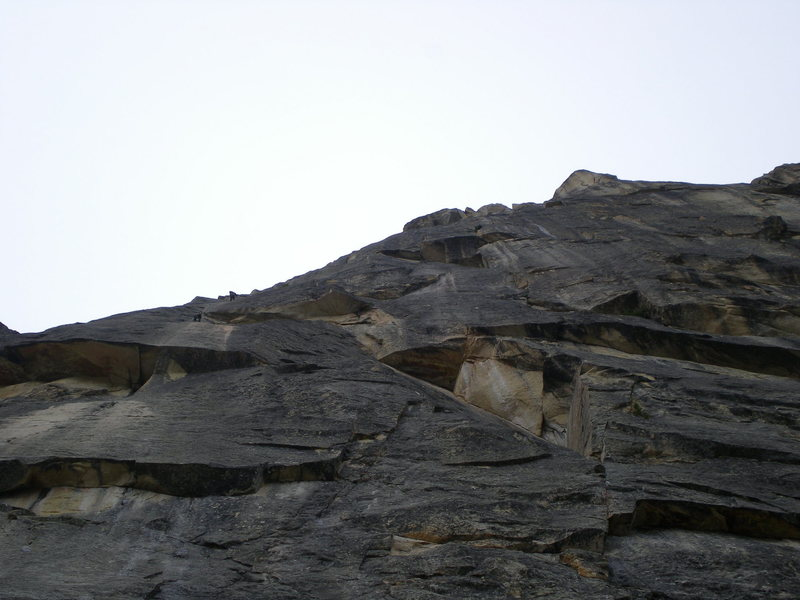 Climbers above Lithuanian Lip.
