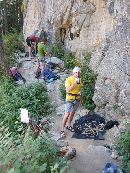 Rock Climbing Photo: While belaying, always make sure you are paying at...