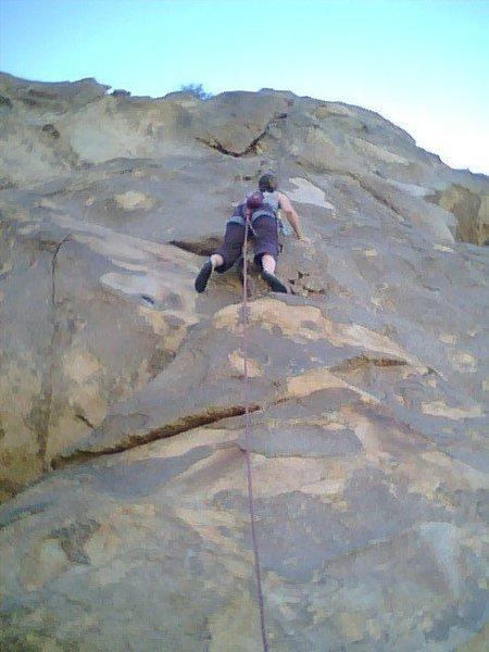 Rock Climbing Photo: Louise Borda on The Wind Tower
