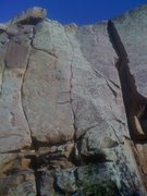 Rock Climbing Photo: Final Finger is the nice fingers/thin crack on the...