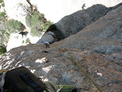Rock Climbing Photo: Me rapping from the Momo Buttress with the traveli...