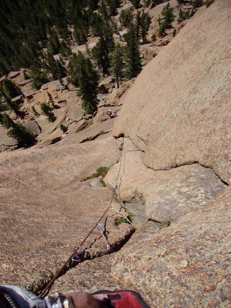 Looking down from pitch 2.
