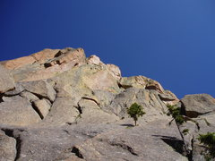 Rock Climbing Photo: The final summit headwall.