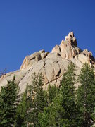 Rock Climbing Photo: A view of the face from the descent trail. The Cen...