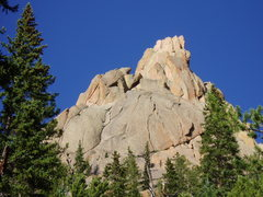 Rock Climbing Photo: Pangborn's Pinnacle from the descent trail.
