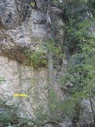 Rock Climbing Photo: This shows the route Kodak Courage