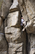 Rock Climbing Photo: Climbing through the crux of the By Gully.  One of...