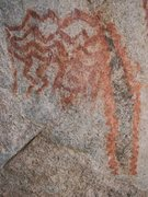 Rock Climbing Photo: Petroglyph on East Stronghold