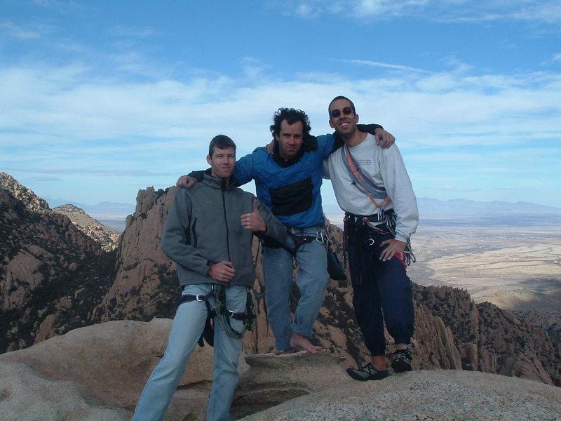 Summit of End Pinnacle, back in '06... Herman, Luis and Aleix