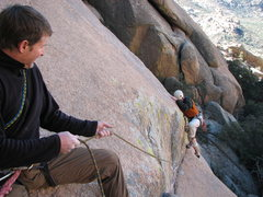 Rock Climbing Photo: First Pitch.. Scott Conners and Eric Deschamps