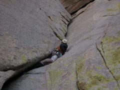 Rock Climbing Photo: the joy of an O.W.
