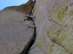 Rock Climbing Photo: further up the O.W.