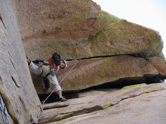 Rock Climbing Photo: going for it!