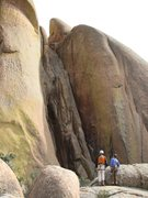 Rock Climbing Photo: a couple more pitches to go??? looks very interest...