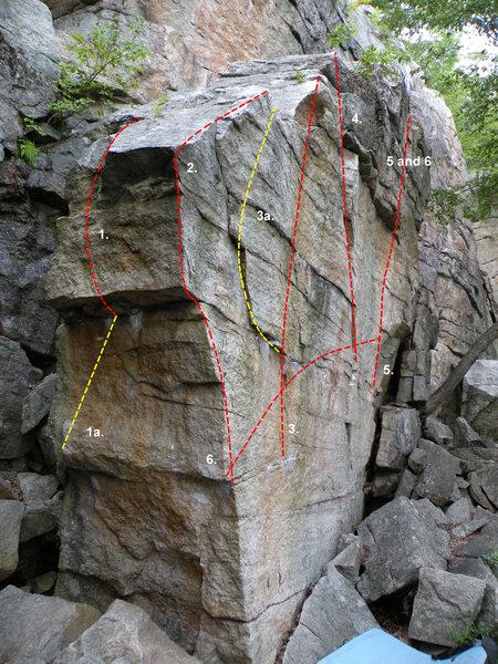 Rock Climbing Photo: The Suzie A Boulder: 1. Stannard's Crank (V3), 1a....