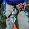 This is the setup that I routinely use when I have built a top-rope anchor that is extended some distance over an edge and I need to rappel that route.  I, in effect, rappel a separate strand of rope (using the munter) to get to the extended masterpoint.  I pre-rig the rappel on the actual climbing rope, before I begin descending with the munter.
