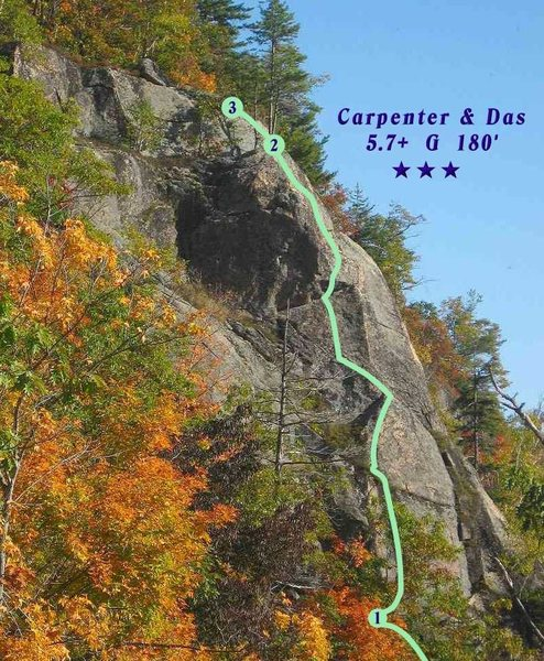 Rock Climbing Photo: Upper Pitch of Carpenter & Das, on the Isobuttress...
