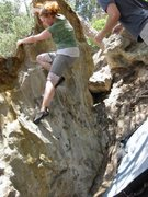 Rock Climbing Photo: Climbing the wave, Ute Valley Colorado