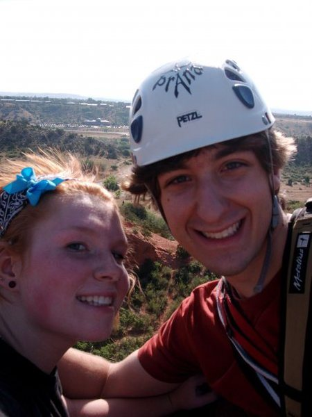 Rock Climbing Photo: At the top of Montezuma's Tower, Garden of the God...