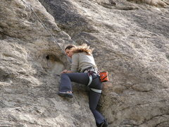 Rock Climbing Photo: Couple moves past the start.  Few good positions t...