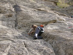 Rock Climbing Photo: Moving up the crack to the first pitch, then on to...