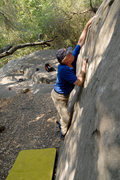 Rock Climbing Photo: Michael McKay on the Slab Boulder, Skofield Park.