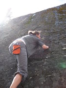 Rock Climbing Photo: the highball can get a little wet in the spring fr...
