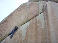 Rock Climbing Photo: A few moves into the hard part.  Photo by Rob Hard...