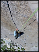 Rock Climbing Photo: Angelina following P1 of Bony fingers.  This route...