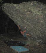 Rock Climbing Photo: Steven Lovelace on Front Man (V-5), AVP Boulder, g...