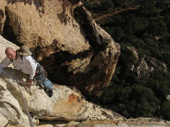 Rock Climbing Photo: Brent Davis at the top of Tonto. his second day on...