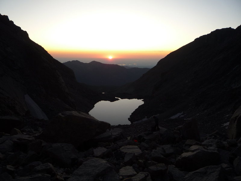 Sunrise over Chasm Lake.