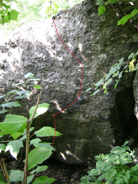 Rock Climbing Photo: Blue- Green Olga
