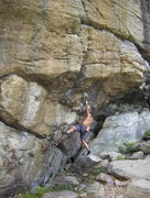 Rock Climbing Photo: Jason on Cro-Magnon Crow Hill MA