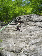 Rock Climbing Photo: Michelle on Rise and Shine 5.7 in Rumney