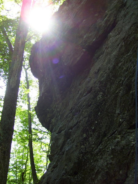 Rock Climbing Photo: No Money Down corner at the meadows, Rumney NH