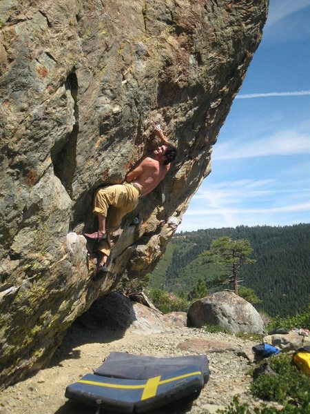 "Onsighting ""Problem C"", Sierra Buttes, CA"