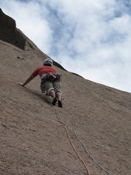 Rock Climbing Photo: Chuck Graves on Pitch 2.