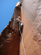 Rock Climbing Photo: Bill Ohran on the FA of the 3rd pitch.