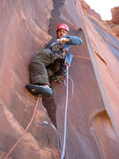 Rock Climbing Photo: Bill Ohran starting the 4th pitch.
