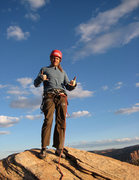 Rock Climbing Photo: Bill Ohran on the summit after the FA of the Force...