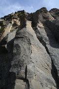 Rock Climbing Photo: sport lead 11b rainbow rocks, Tieton river canyon ...