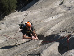Rock Climbing Photo: Hans cruzin' up the stove legs ...