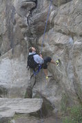 Rock Climbing Photo: Rapping down at minni Spokane WA