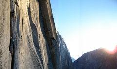 Rock Climbing Photo: First pitch after dolt tower.